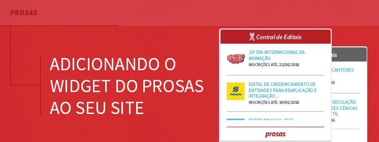 Adicione o widget do Prosas ao seu site!