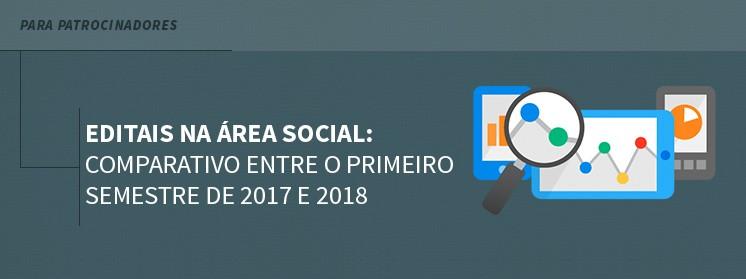 Editais na área social: Comparativo entre o primeiro semestre de 2017 e 2018