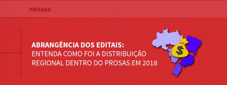 Abrangência dos editais: entenda como foi a distribuição regional dentro do Prosas em 2018