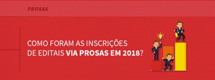 Como foram as inscrições de editais via Prosas em 2018?
