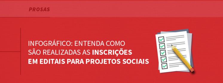 Infográfico: Entenda como são realizadas as inscrições em editais para projetos sociais