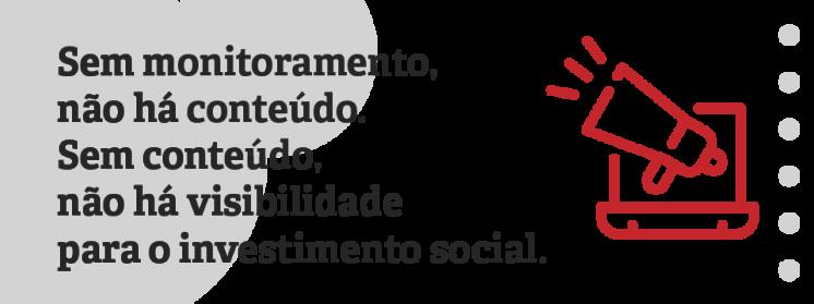 Monitoramento de projetos e a visibilidade do investimento social