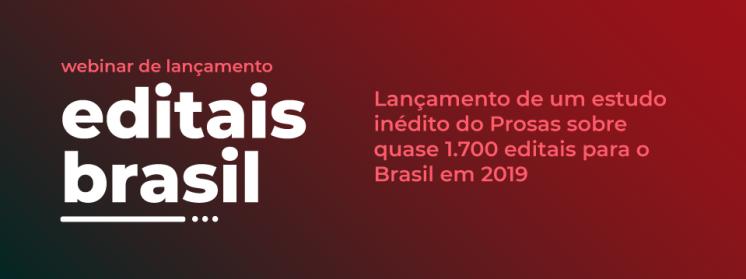 Editais para a área social e indústria criativa distribuíram mais de R$1 bilhão em 2019, aponta estudo Editais Brasil